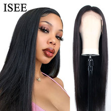 250% Density Straight Lace Front Wigs For Women Brazilian Human Hair Wigs 13X4 ISEE HAIR Straight Lace Front Human Hair Wigs