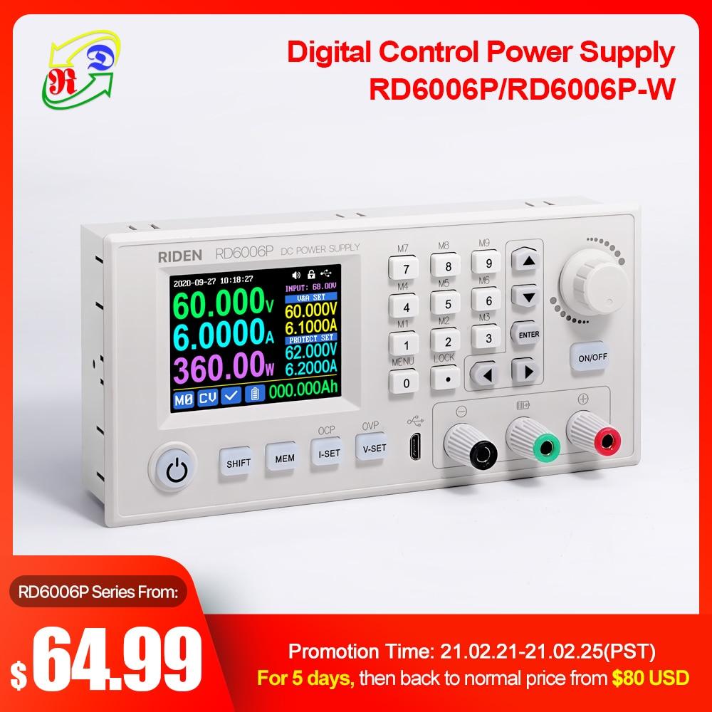 RD Riden-módulo de fuente de alimentación RD6006P RD6006PW WiFi USB DC, reductor de corriente de voltaje, convertidor ajustable buck 60V 6A