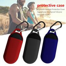 Bluetooth Headset Protector Cover Shockproof Silicone Headphone Case with Hook For anker soundcore liberty Neo Earbuds Cover(China)