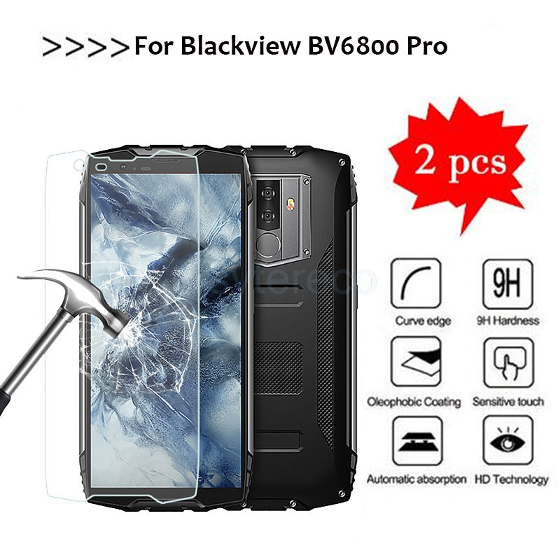 2pcs Smartphone 9H Tempered Glass for Blackview BV6800 pro <font><b>bv6800pro</b></font> Original GLASS Protective Film Screen Protector cover phone image