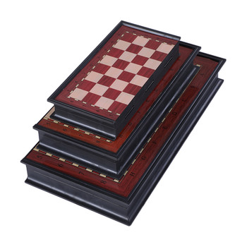 Wooden Folding Magnetic Chess Set Solid Wood Chessboard Magnetic Pieces Entertainment Travelling Board Game Adults Children Gift