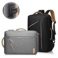 Multifunction Anti-theft Business Briefcase Men Waterproof Travel Laptop Password Lock Back Pack Leisure Patchwork Hand Bag B023