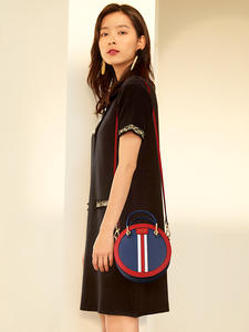 FOXER Crossbody-Bag Circular-Handbag Round Small Female Women's Lady Girl for Gift England-Style