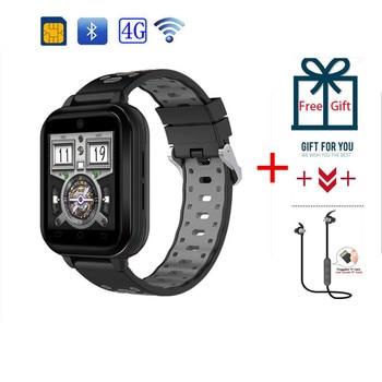 Reloj inteligente 4G GPS MTK6737 Quad Core Android 6,0 1 GB/8 GB hombres reloj inteligente teléfono ritmo cardíaco pulsera multifuncional