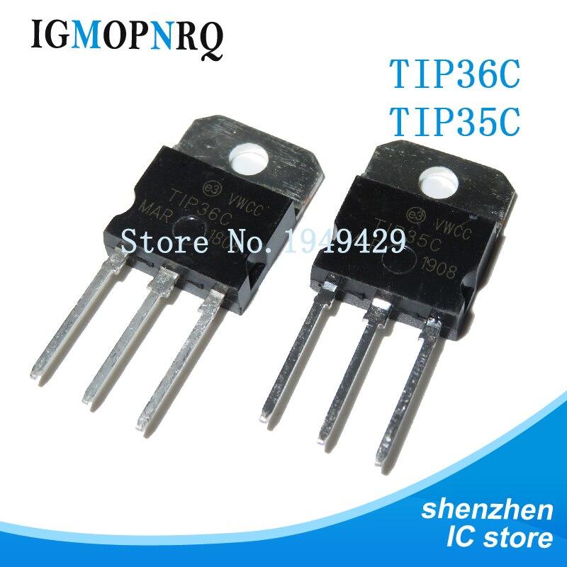 5PAIR/10PCS TIP36C TIP35C TIP36 TIP35 25A 100V TO-3P Power Amplifier Tube IC
