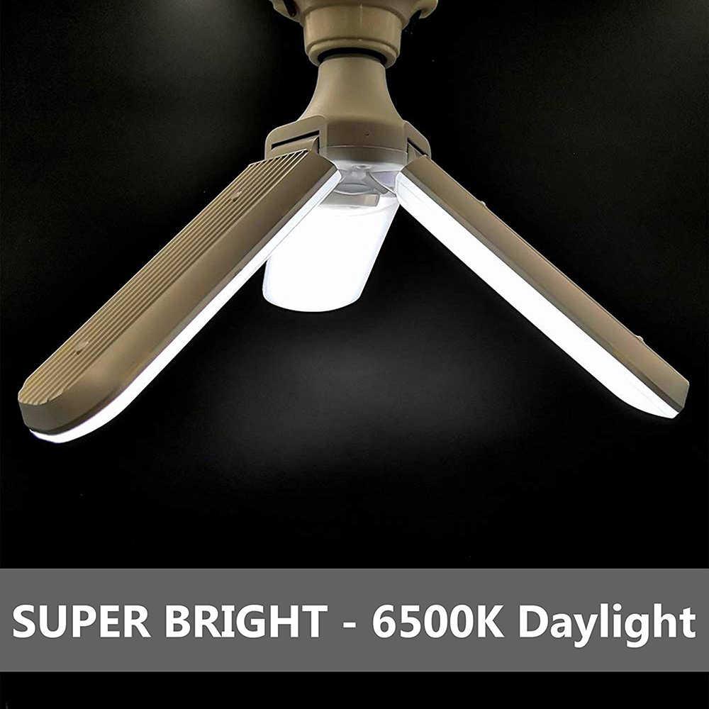 Супер яркий складной светодиодные гаражные светильники E27 30 Вт 45 Вт, 60 Вт, светодиодный стеллаж для хранения под потолком светильники светодиодный добыча светильник для мастерской подвала