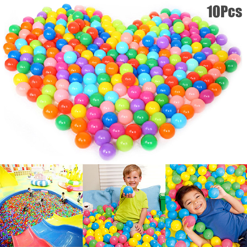 10 Pcs Colorful Play Balls Toy Educational Gift For Children Kids Indoor Playpen Party BM88