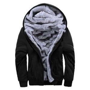 Men's Winter Hoodies Thickened Warm Coat