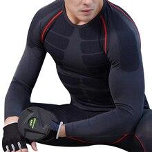 Gym Shirt Rashguard Long-Sleeve Compression Jersey Sportswear Tight Fitness Crossfi Men Workout
