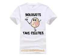 Модная Летняя мужская футболка с персонажами из мультфильма «человек-биологи», забавная футболка с героями биологии, модная мужская футбол...