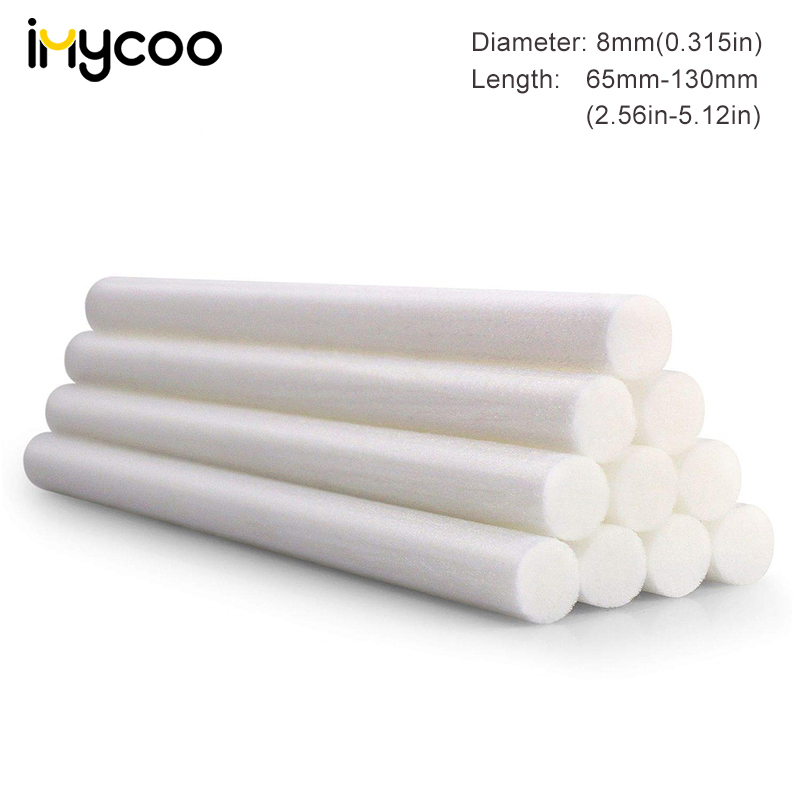 10 Packs 8mm Humidifier Cotton Swab Core Cotton Filter Wicks Humidifier Sticks Cotton Filter Sticks Replace Humidifier Parts