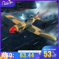 Avión acrobático XK A220 P40 de 4 canales, 384 Wingspan, 6G/3D, plano acrobático, 6 ejes, estabilidad, Control remoto, avión eléctrico RC, juguete al aire libre aviones a control remoto