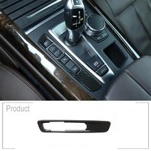 Carbon Fiber Style ABS Car Center Console Mode Button Frame Cover Trim Car Accessories for BMW X5 F15 X6 F16 2014-2018 LHD RHD