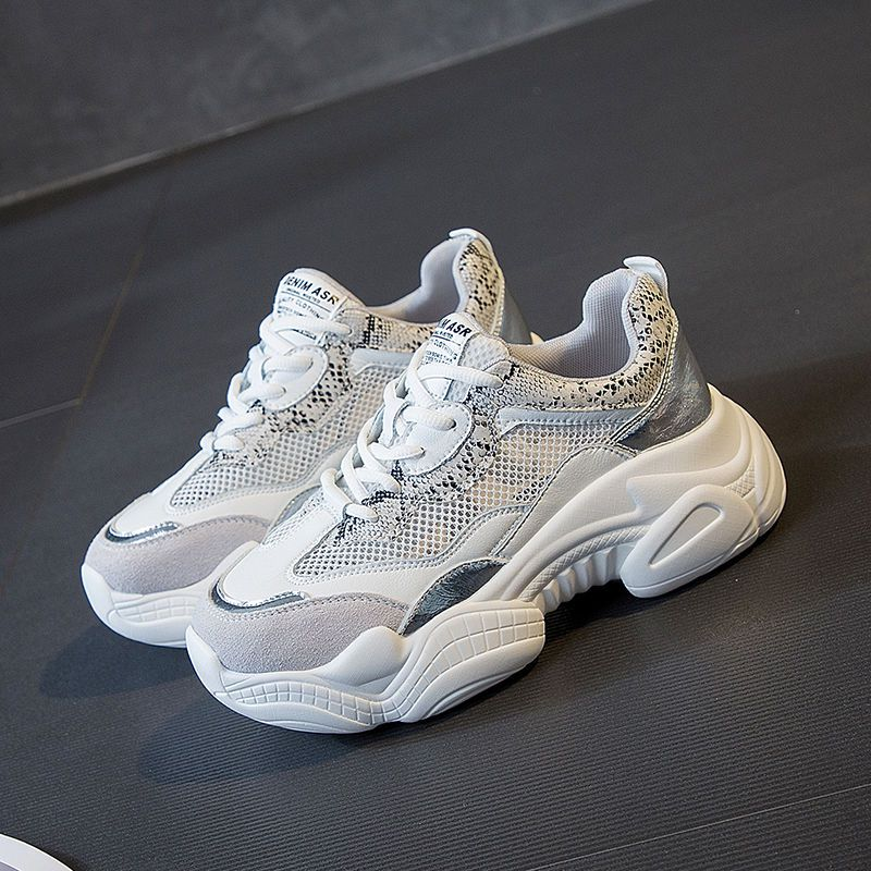 Women Shoes Chunky Sneakers Breathable Mesh Height Increasing Woman Casual Platform Shoes Tenis Feminino Footwear Scarpe Donna