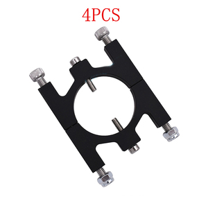 Image 1 - 4PCS Carbon Fiber Pipe Clamp 30mm Aluminum CNC Tube Fixture Clip Metal Clip Holder Parts for RC Plant Agriculture UAV Drone