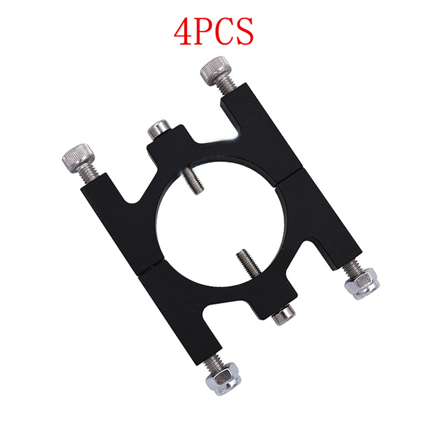 4PCS Carbon Fiber Pipe Clamp 30mm Aluminum CNC Tube Fixture Clip Metal Clip Holder Parts for RC Plant Agriculture UAV Drone