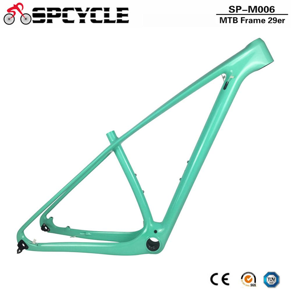 Spcycle 29er T1000 Full Carbon MTB Frame 29er Mountain Bike Carbon Frame PF30 Compatible 142*12mm Thru Axle And 135*9mm QR