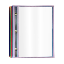 Classroom Student Assorted Colors Reusable Dry Erase Pockets