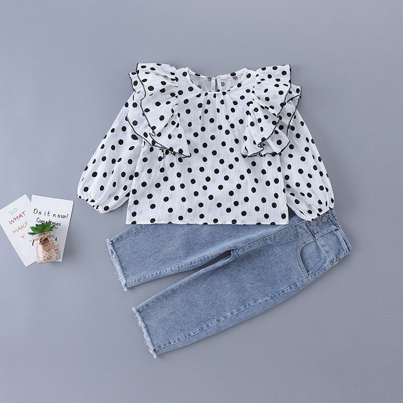 3-7 Years High Quality Spring Girl Clothing Set 2020 New Fashion Casual Solid Shirt + Pant Kid Children Girls Clothing