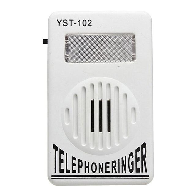 1 قطعة 95dB اضافية بصوت عال الهاتف قارع الأجراس الهاتف حلقة مكبر للصوت رنين مساعدة ضوء إحترافي جرس الصوت الثابت قارع الأجراس نغمات الصوت 2