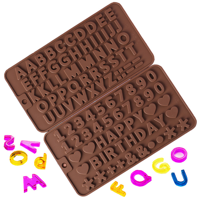 Popular1PC Numbers Letters Jewelry Mold Silicone Resin Craft DIYExpoxy Moulds For Making Geometric Jewelry Pendant Tools