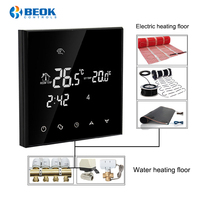 Beok Smart Thermostat Controller for Water/Electric floor Heating Room Thermostat Weekly Programmable