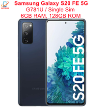 Samsung – téléphone portable Galaxy S20 FE 5G G781U G781U1, 6.5 pouces, ROM 128 go RAM 6 go, Snapdragon 865, NFC, Triple caméra arrière, Octa Core, Original