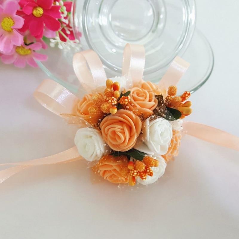 Цветение богатое букеты искусственной гортензии искусственные цветы, шелковые цветы розы декоративный цветок свадебные аксессуары - 4