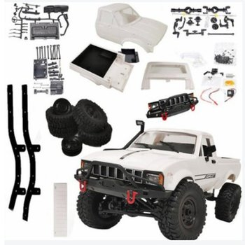 C24-1 Kit Version Pickup 4WD Climbing Remote Control Car Full-scale Remote Control Car Model Toy Children's Gift diy simulation remote control ship model kit for tug804 tugboat rescue ship small scale and moped tugboat 1 18