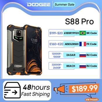 DOOGEE S88 Pro Rugged Mobile Phone 10000mAh Telephones IP68/IP69K Helio P70 Octa Core 6GB RAM 128GB ROM smartphone Android 10 OS