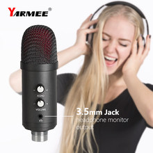Professional Condenser USB Microphone With Stand For Laptop Karaoke Singing Streaming Gaming Podcast Studio Recording Mikrofon