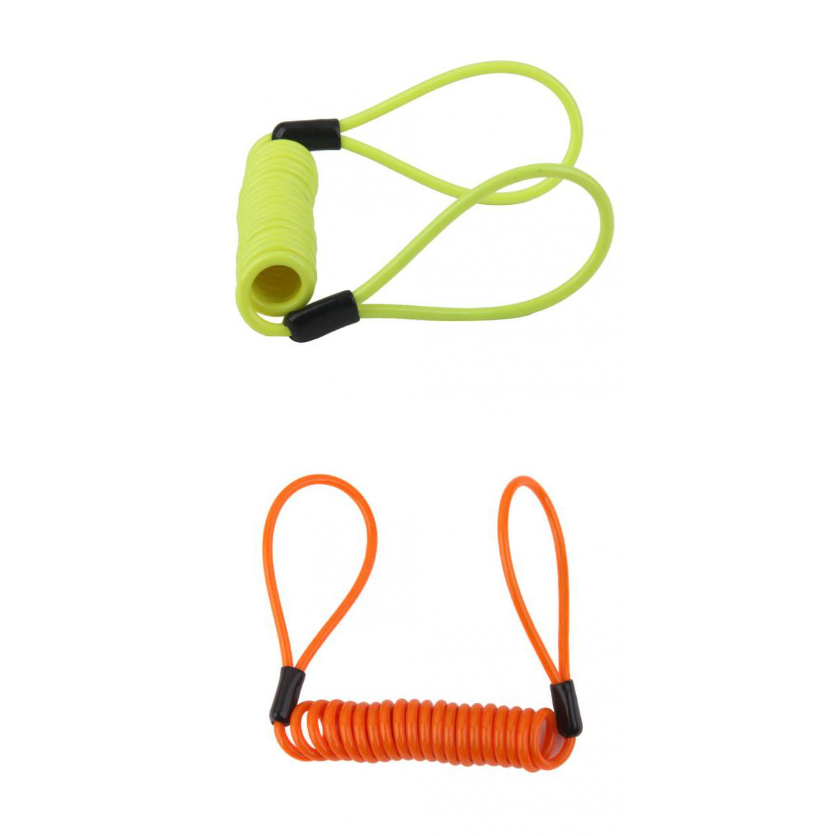 Motorcycle Motorbike Disc Lock Spring Reminder Quad Cable High Visibility