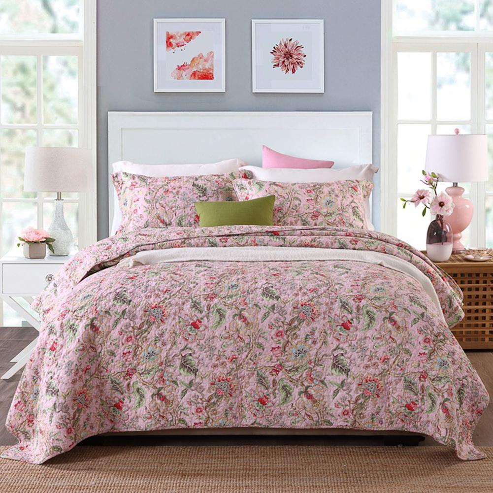 4 farben Floral Muster Quilt Dicken Wirft Decke Stepp Plaids Bettdecke Sofa Decke Bettwäsche Für Home Hotel Baumwolle Bettdecke - 5