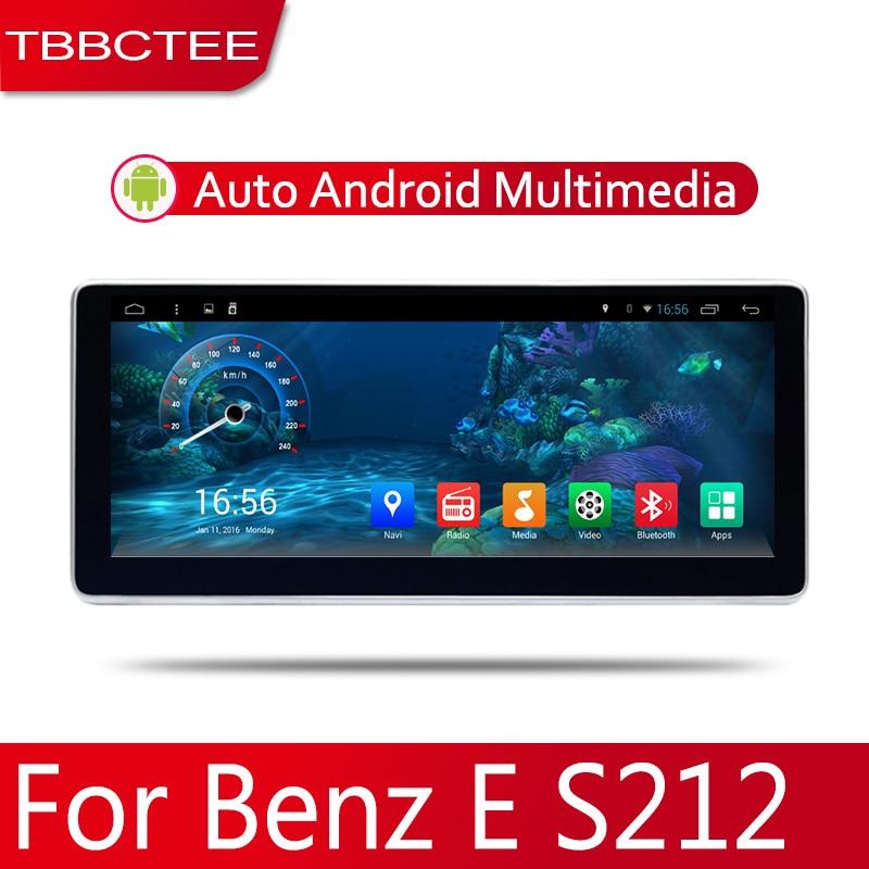 2din voiture multimédia Android Autoradio lecteur GPS pour Mercedes Benz classe E S212 2010 ~ 2016 Bluetooth WiFi lien miroir