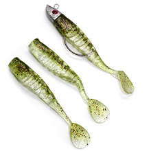 YUZI Jig Head Soft Fish Bait Artificial Lures Worm Hook T Tail 9cm/15g 11cm/25g Fishing Lures Pesca цена