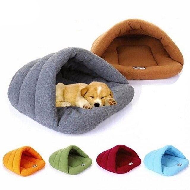 لينة الصوف شتاء دافئ الحيوانات الأليفة سرير كلب 4 حجم مختلف كلب صغير القط كيس النوم جرو كهف السرير شحن مجاني