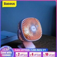 Baseus ventilateur de refroidissement, Rechargeable par USB, pour bureau, double usage, pour la maison, le chevet des étudiants, le chevet