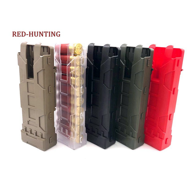 New Tactical Shotgun Magazine Pouch Airsoft Paintball 10 Rounds 12 Gauge Reload Ammo Shells Molle Magazine Box