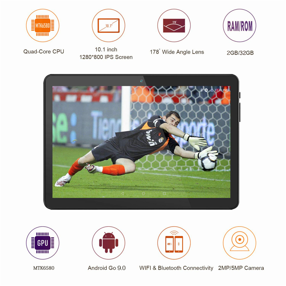 ZONKO 3G Phone Call Tablet PC 10 Inch Tablet Android Tablets Android 9.0 Quad Core  32GB Dual SIM Dual Camera Wifi GPS