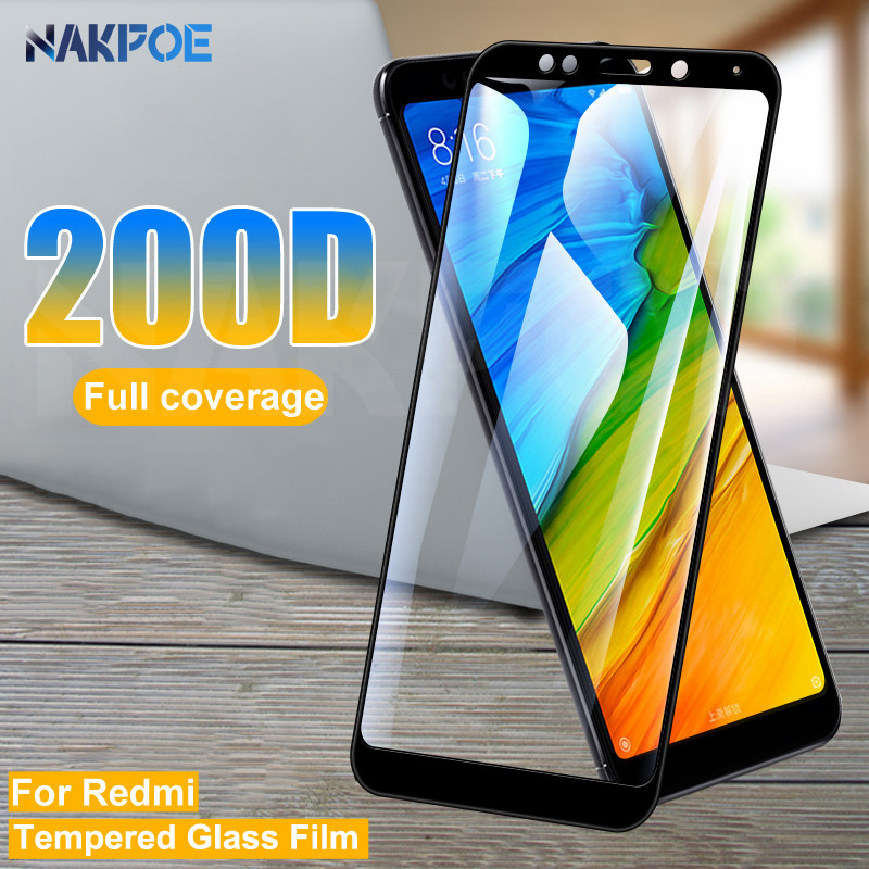 200D Tempered Glass For Xiaomi Redmi 5 Plus 5A 4 4X 4A S2 Go K20 Note 5 5A Pro Screen Protector Safety Film Protective Glass