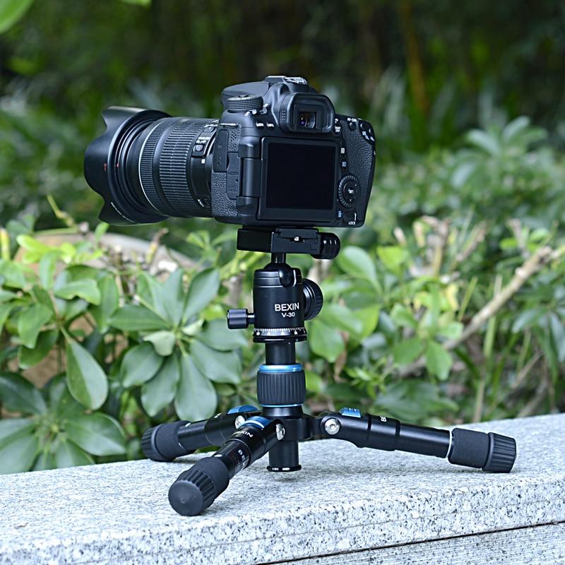 In lega di alluminio Video Macchina Fotografica telescopico treppiedi del telefono da tavolo mini mobile treppiede portatile Dslr Mini Treppiede/Leggero - 2