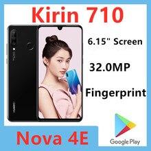 Оригинальный HuaWei Nova/4e P30 Lite мобильный телефон Kirin 710 Android 9,0 6,15