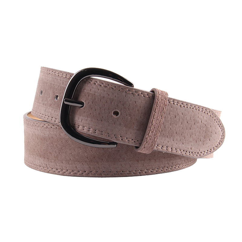 ELIfashion Pigskin Genuine Leather Belt Luxury Strap Dress And Jeans Belts For Female Fashion Shinnig Black Buckle  For Women