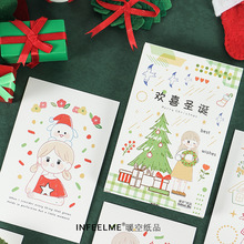 Greeting-Card Postcard 30pcs/Set Birthday-Letter Hand-Painted Christmas Happy DIY New