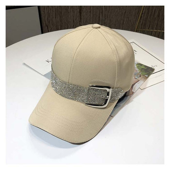 New Fashion Rhinestone Belt Baseball Caps For Women Snapback Sport Caps Outdoor Sun Hat Gorras Black hat
