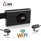 SYS VSYS M2F WiFi камера мотоцикла рекордер Dash Cam двойной SONY IMX323 1080P Передняя Задняя Водонепроницаемая линза 3,0 ''ЖК мотоцикл dvr