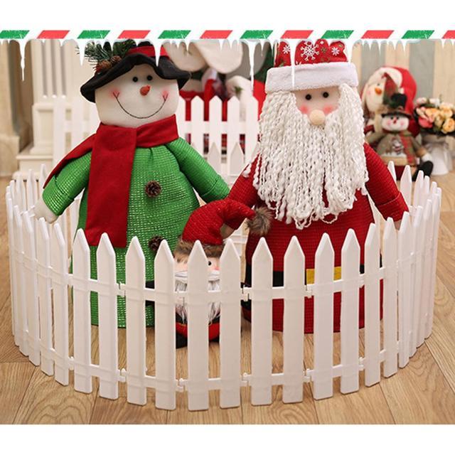 Árvore de natal cerca cena de natal decoração removível cerca de plástico
