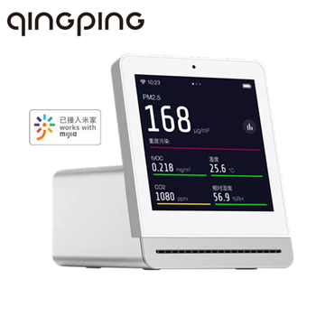 Qingping Air Detector Retina Touch IPS Screen Mobile Touch Operation Mijia APP Pm2.5 Air Monitor for Indoor Outdoor