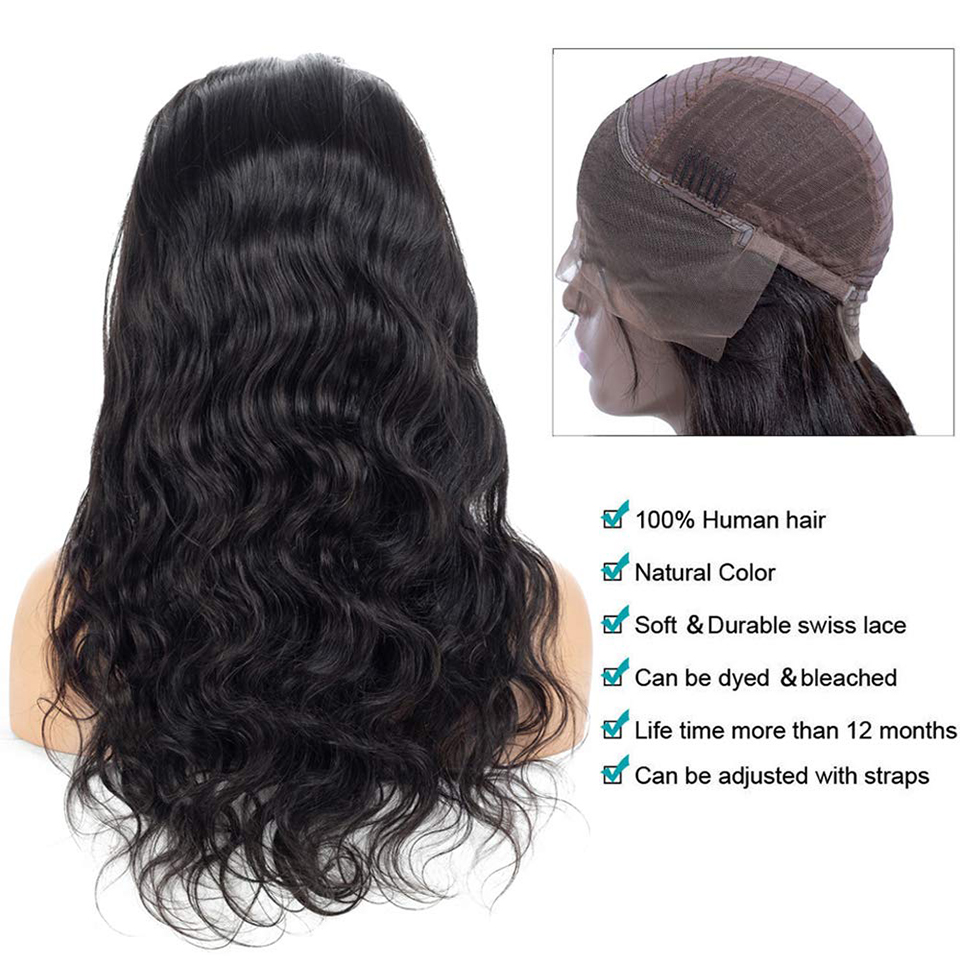 Body Wave 13*4 Lace Front Wig Natural Hairline Body Wave  Wigs  Pre-plucked Lace Front  Wigs 3