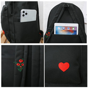 Image 5 - New Trend Female Backpack Fashion Solid Color Women Backpack Waterproof Teenage Girls School Bags Casual Shoulder Bag Female